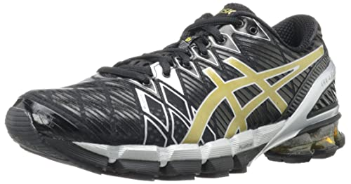 ASICS Men's GEL-Kinsei 5 Running Shoe (Black-Gold-Silver)