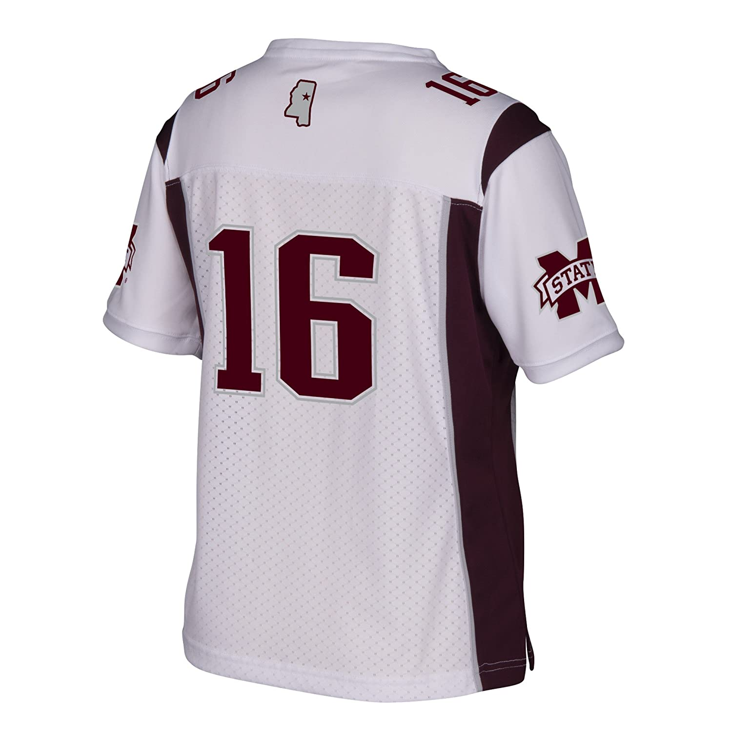White Small 7659W YV1 Adidas NCAA Mississippi State Bulldogs