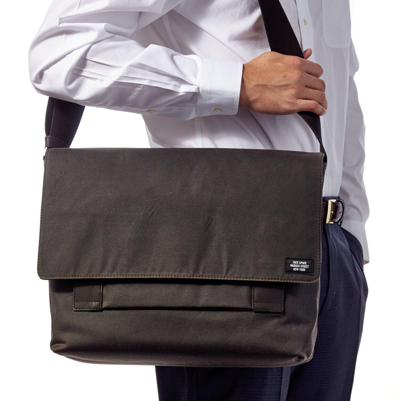 Jack Spade Waxwear Field Messenger Bag, Fits 13'' Laptop - Chocolate