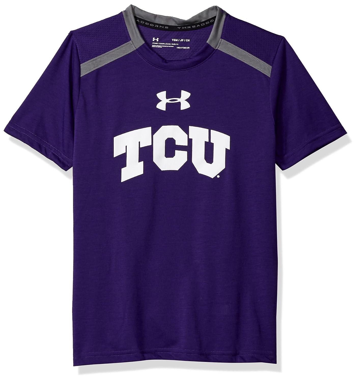 Purple Under Armour NCAA TCU Horned Frogs Teen-Boys NCAA Boys Short Sleeve Vented Tee X-Large
