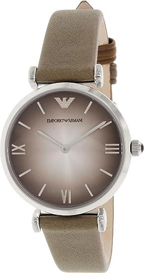 0900a6279 Emporio Armani Women's Retro AR1768 Grey Leather Quartz Watch: Emporio  Armani: Amazon.ca: Watches