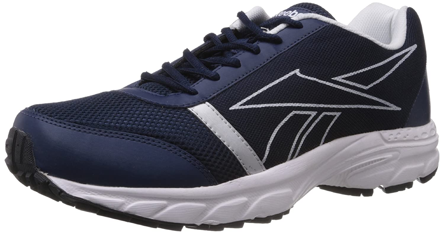 fdc887f0a7e Reebok Men s Sonic Run Lp Navy Blue and Silver Mesh Running Shoes - 11 UK  Buy  Online at Low Prices in India - Amazon.in
