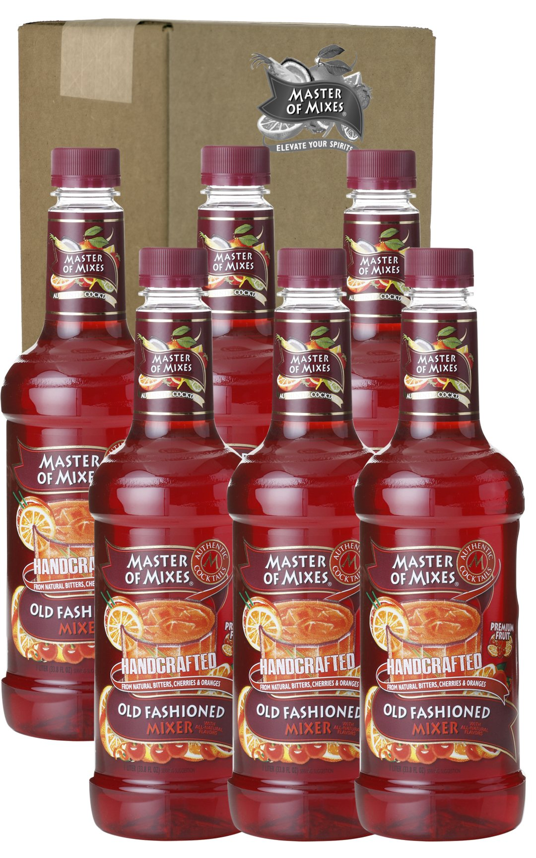 Master of Mixes Mix, Old Fashioned, 33.81-Ounce (Pack of 6)