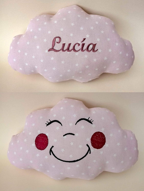 Cojín nube para bebés personalizado con su nombre, bordado a ...
