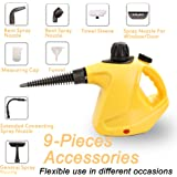 ENSTVER Handheld Pressurized Steam Cleaner with 9-Piece Accessory Set -Chemical-Free Steam Cleaning for Home, Auto, Patio, More
