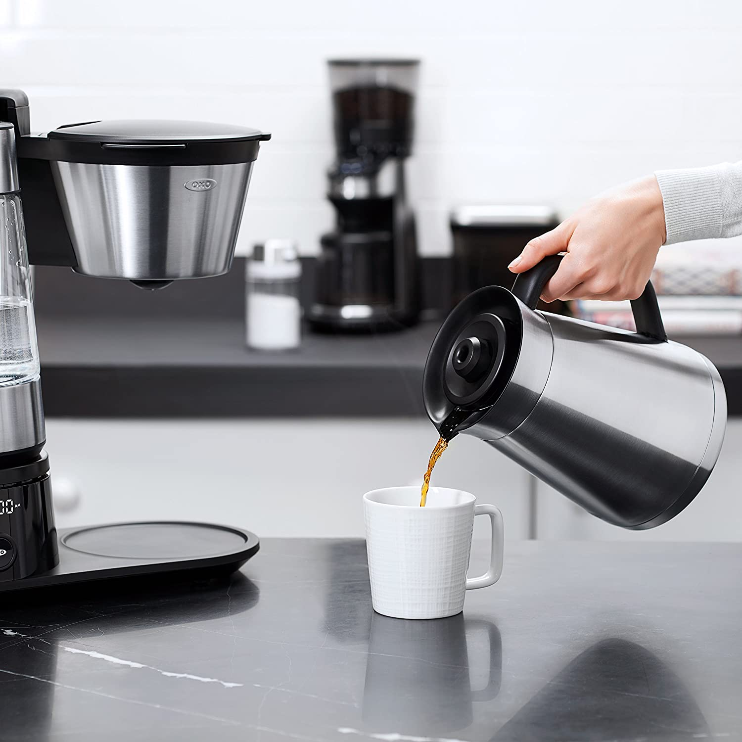 OXO On Barista Brain 12 Cup Coffee Maker with Removable Kettle