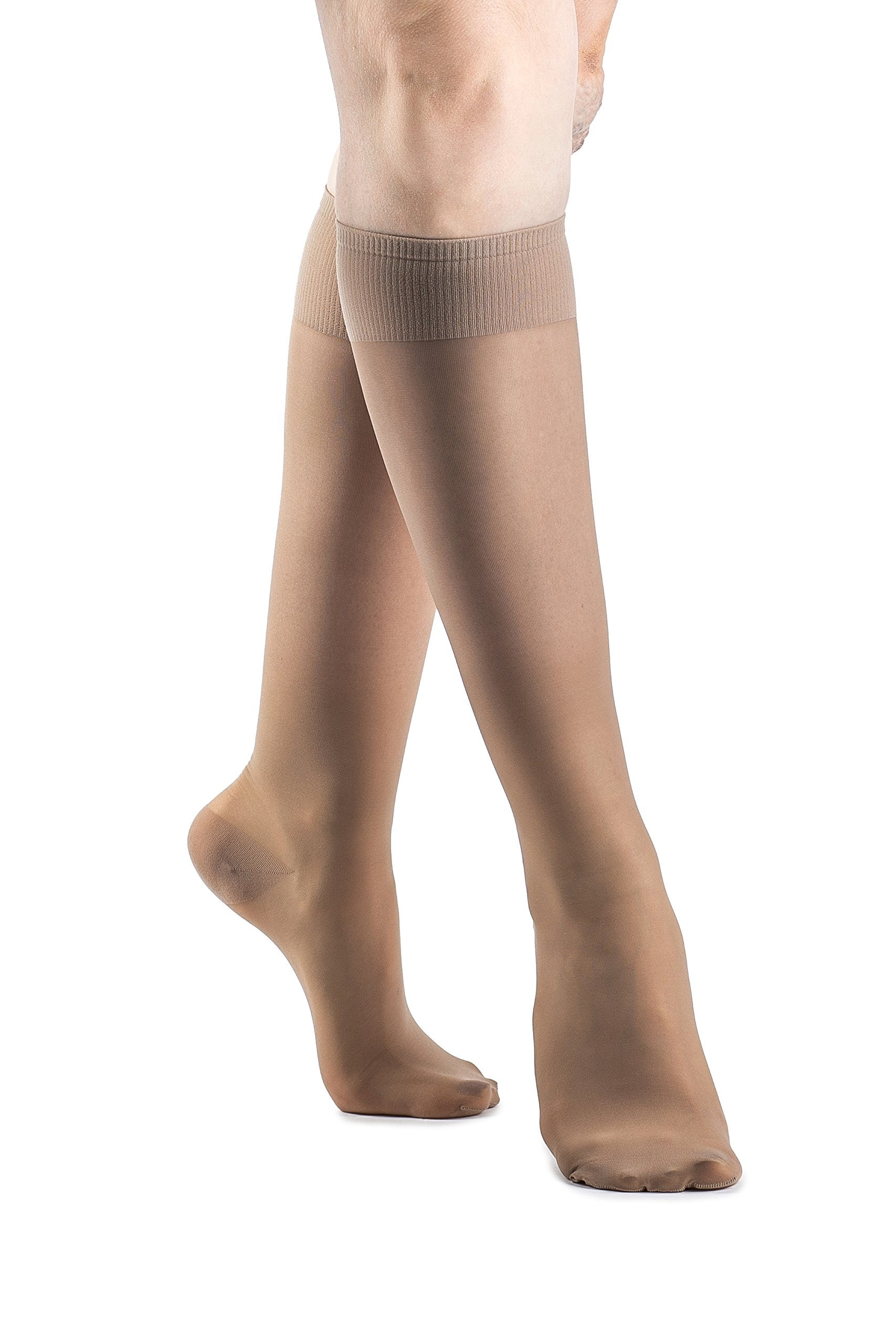 287eaa59fc Amazon.com: SIGVARIS Women's SHEER FASHION 120 Closed Toe Calf Compression  Hose 15-20mmHg: Health & Personal Care
