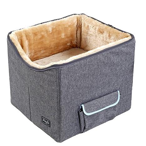 Petsfit Asiento de Coche para Perros pequeños y Gatos de hasta 8 kg, Asiento de
