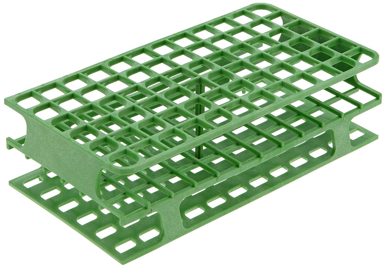 Heathrow Scientific HD27551C - Porta provette, in polipropilene, 104 x 202 x 59 mm, 13 mm, colore: verde HS27551C