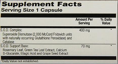 Amazon.com: Solaray s.o.d. 2000 Plus, 400 mg, 100 Count ...