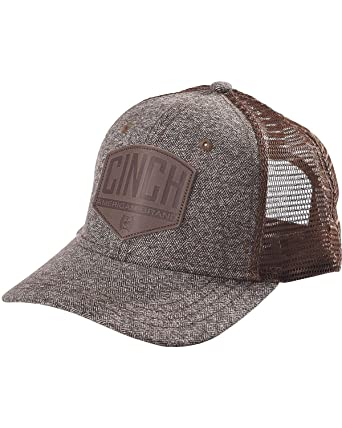 18588cb3 Cinch Men's Snapback Mesh Trucker Hat Brown One Size at Amazon Men's ...