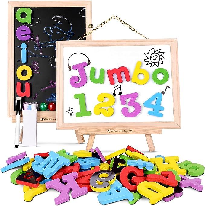 JoyNote Puzzle Magnetico Madera Juguete 119 PCS Tablero de Dibujo Juguete con Bolsa de Almacenamiento para Niños Más de 3 Años: Amazon.es: Juguetes y juegos