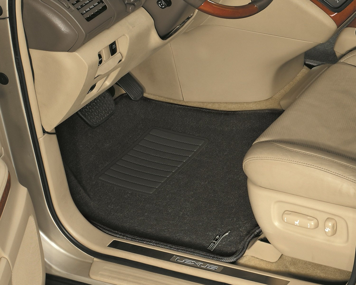 Black L1JP00732209 Classic Carpet 3D MAXpider Third Row Custom Fit Floor Mat for Select Jeep Commander Models