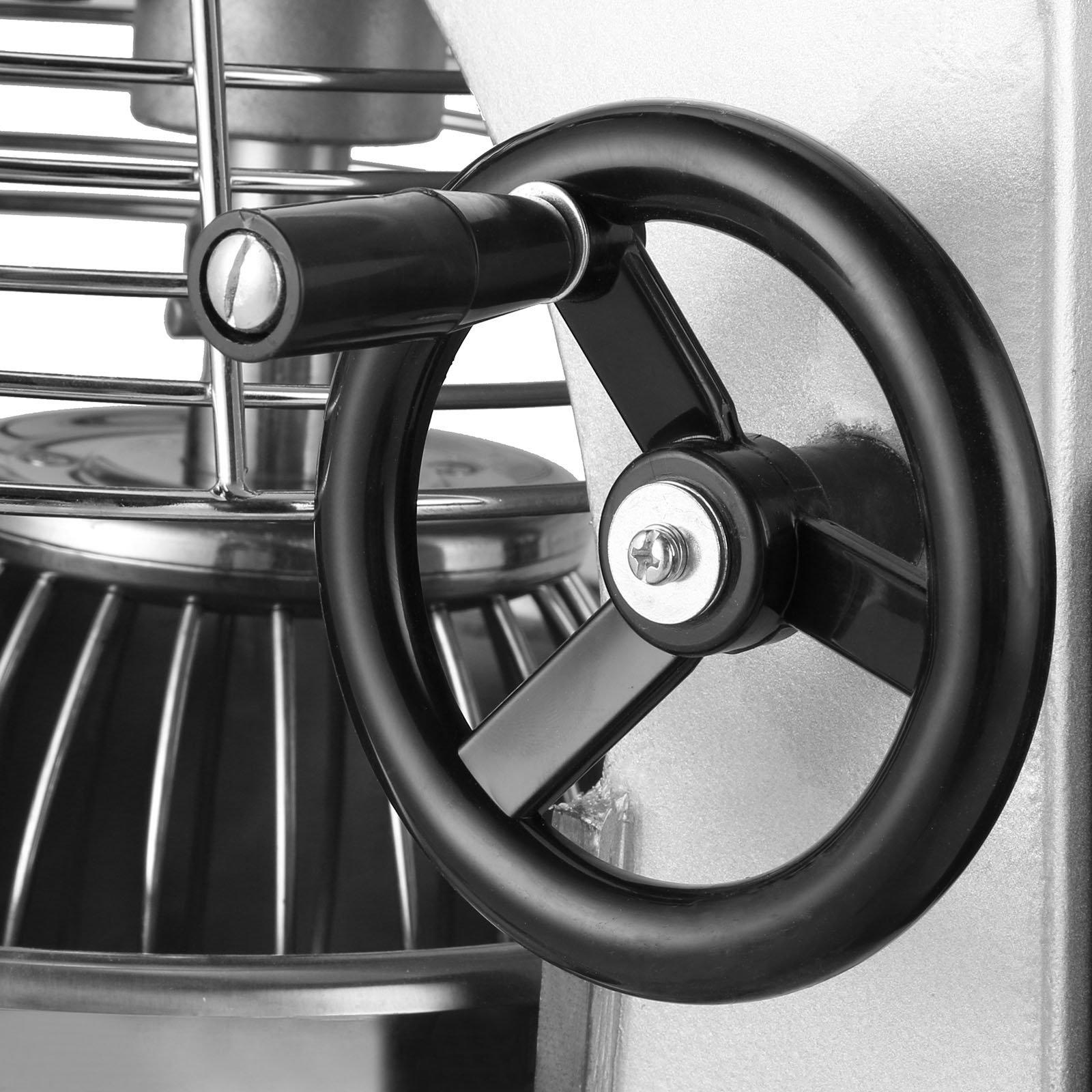 Happybuy Commercial Food Mixer 750W Dough Mixer Maker 3 Speeds Adjustable Commercial Mixer Grinder 94/165/386 RPM Stand Mixer (20 qt) by Happybuy (Image #7)