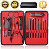 Nail Clippers Sets High Precisio Stainless Steel Nail Cutter Pedicure Kit Nail File Sharp Nail Scissors and Clipper…
