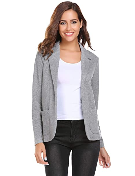Amazon.com: Fanala Black Blazer for Women red Suit Jacket ...