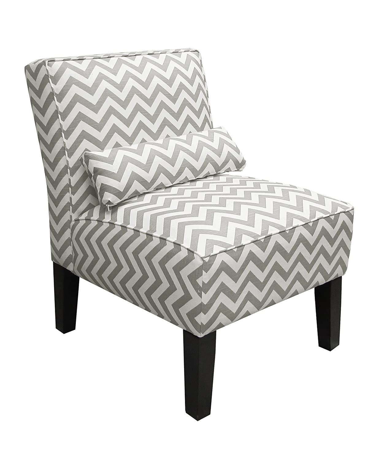 Beau Amazon.com: Skyline Furniture Armless Chair In Zig Zag Grey: Kitchen U0026  Dining