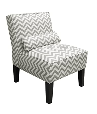 Delicieux Skyline Furniture Armless Chair In Zig Zag Grey