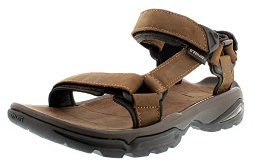Teva Terra Fi 4 Leather Mens Footwear Sandals Bison All Sizes