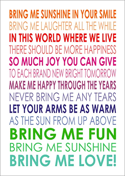 Image of: Trying Lanas Art Personalised Prints Bring Me Sunshine Morecambe And Wise Quote Words Keepinspiringme Lanas Art Personalised Prints Bring Me Sunshine Morecambe And