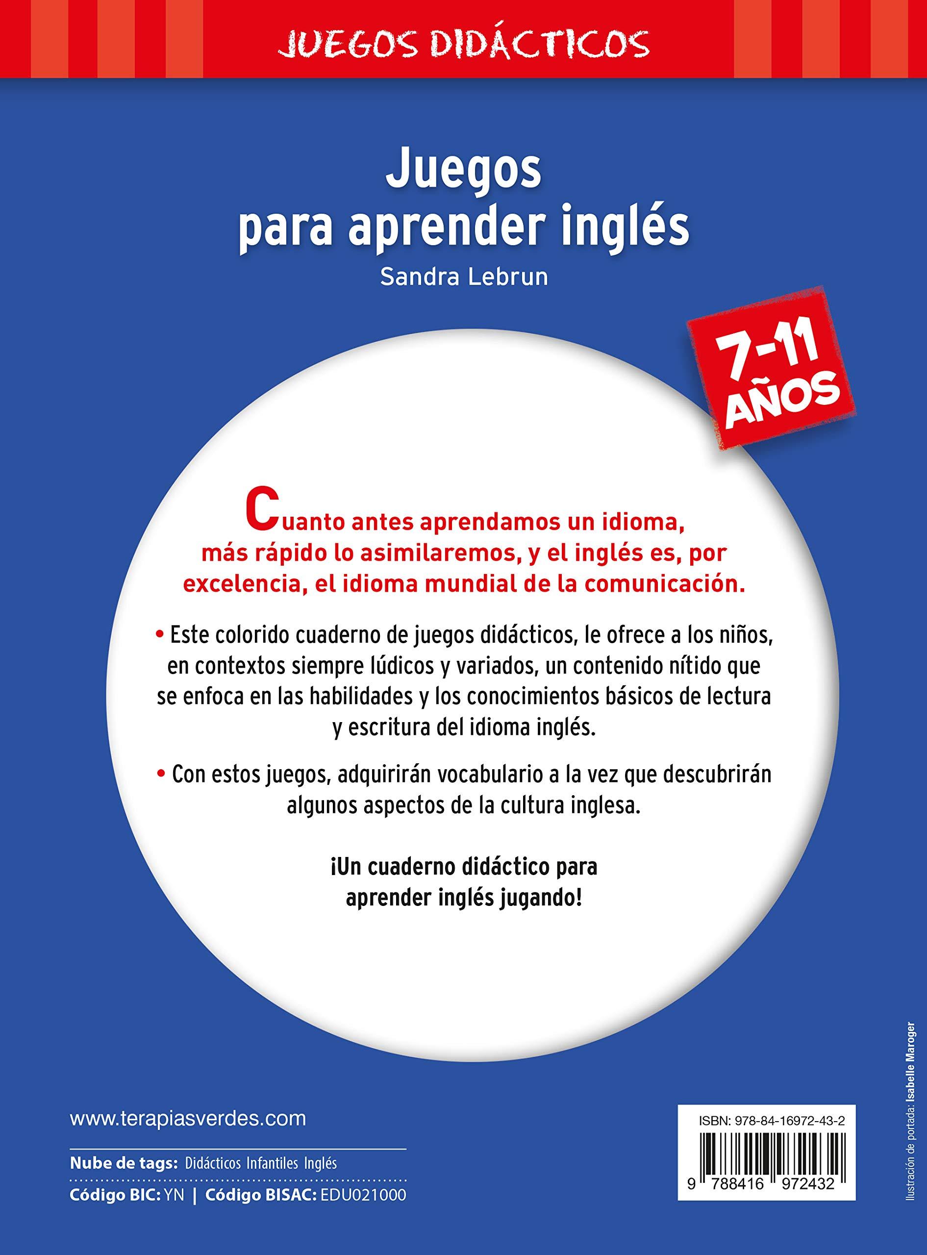 JUEGOS PARA APRENDER INGLES Terapias Juegos Didácticos: Amazon.es: J. L.  CARON, SANDRA LEBRUN, Nuria Viver Barri: Libros