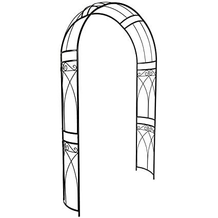 Exceptionnel OUTOUR Stereoscopic Metal Garden Arch Arbor Arbour Archway With Graceful  Curve For Climbing Plants Roses Vines