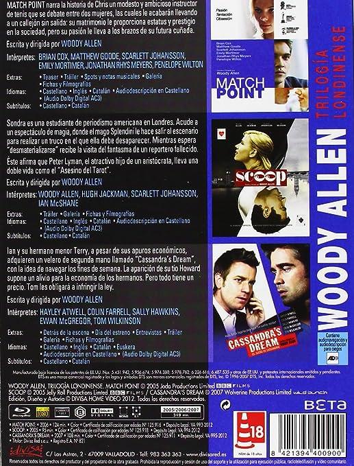 Woody Allen - Trilogía Londinense [Blu-ray]: Amazon.es: Jonathan ...