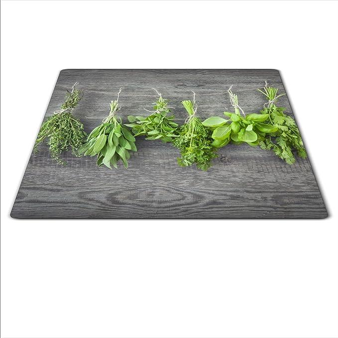 Herdschutz aus Glas Herdabdeckplatte 59x52 für Ceran//Induktion Blume motiv