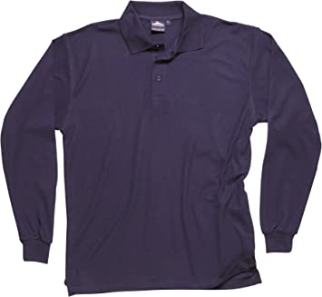 Portwest B212 - Camisa con mangas larga Polo, color Armada, talla ...