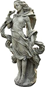 Napco Girl In The Wind Garden Statue, 36-Inch Tall