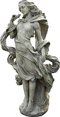 Napco Girl In The Wind Garden Statue