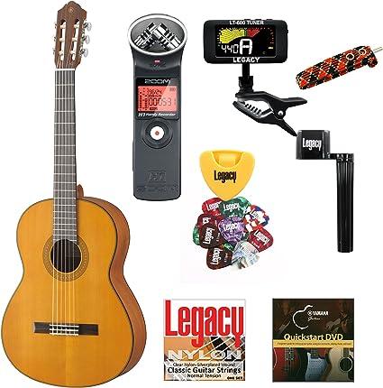 Yamaha CG122 parte superior sólida guitarra clásica, Mate ...
