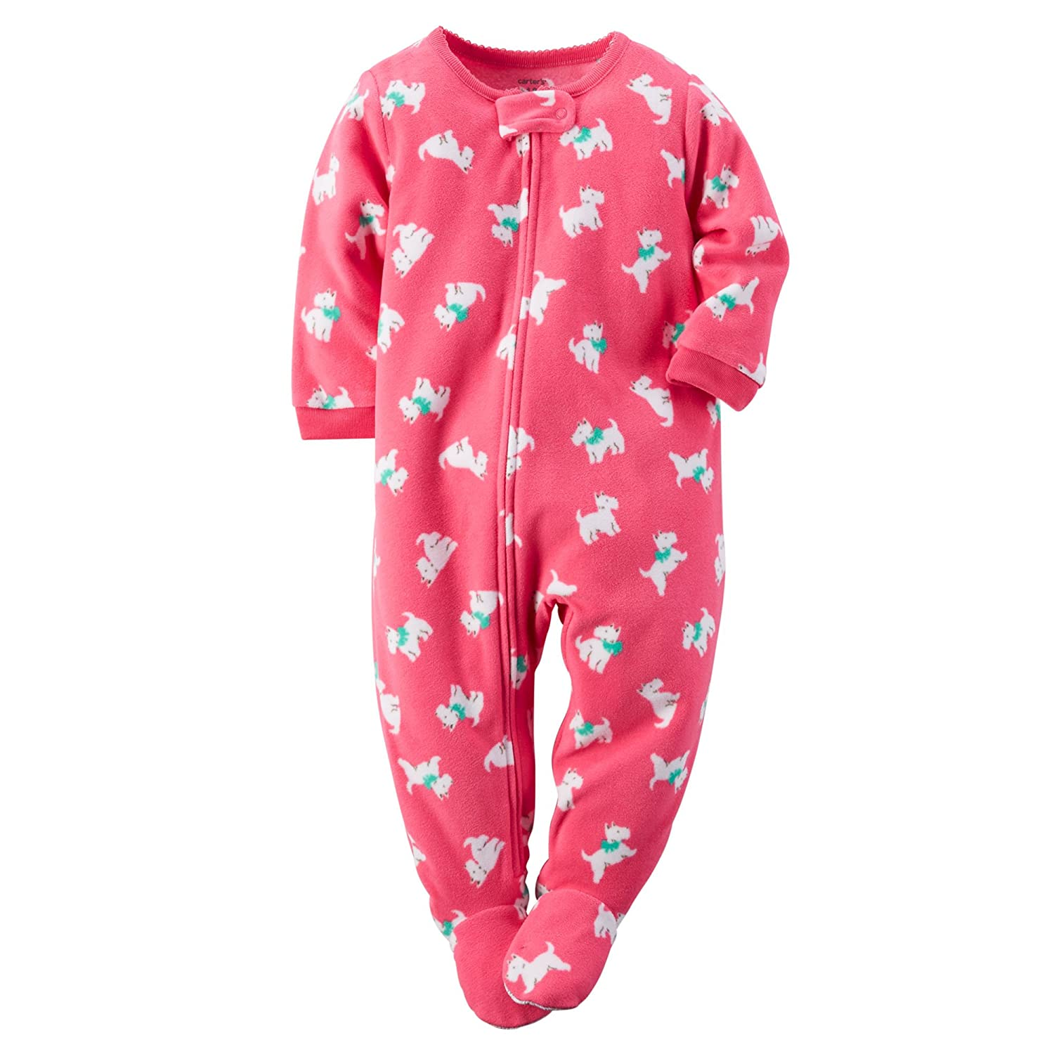 614d9fbfcace Amazon.com  Carter s Big Girls  1 Piece Micro Footed Fleece Pajamas ...