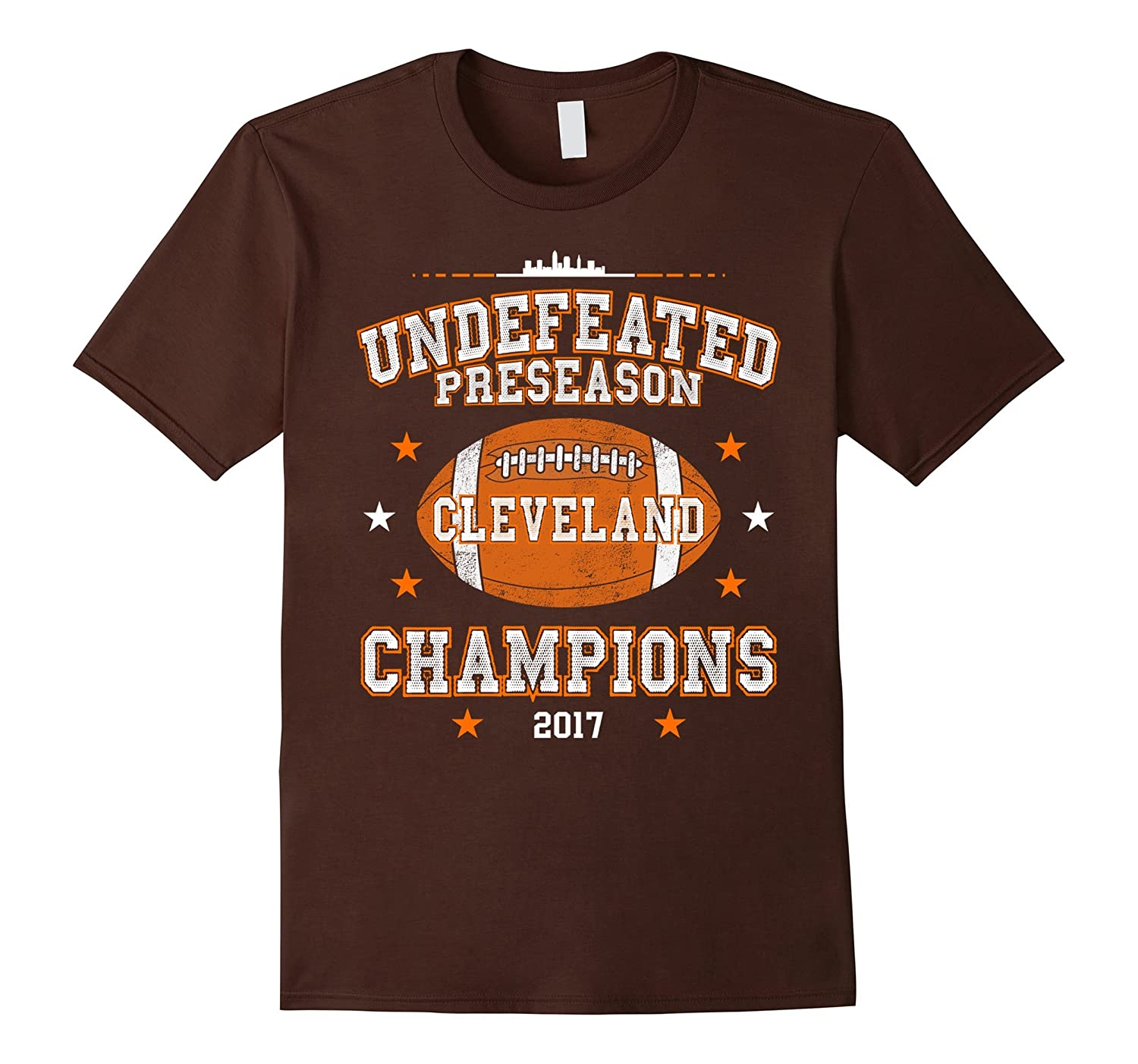 Undefeated Preseason Champions 2017 Cleveland T-Shirt-BN