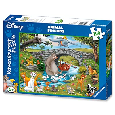 Ravensburger Disney: Animal Friends Jigsaw Puzzle (100 Piece): Toys & Games