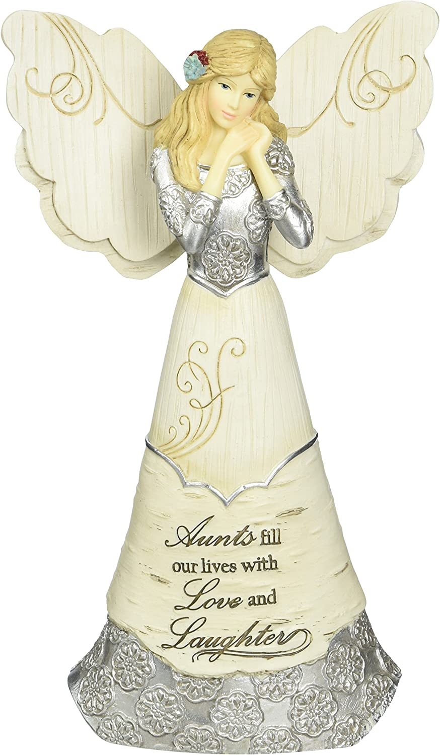 Elements Aunt Angel Figurine by Pavilion, 6-Inch, Inscription Aunts Fill Our Lives with Love and Laughter
