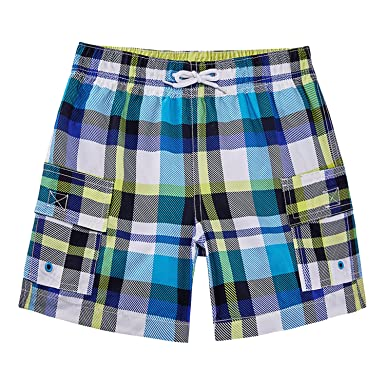 5e0598340f JezMax Toddler Boy's Swim Trunks Swimwear with Build-in Brief Mesh Liner,  2t,