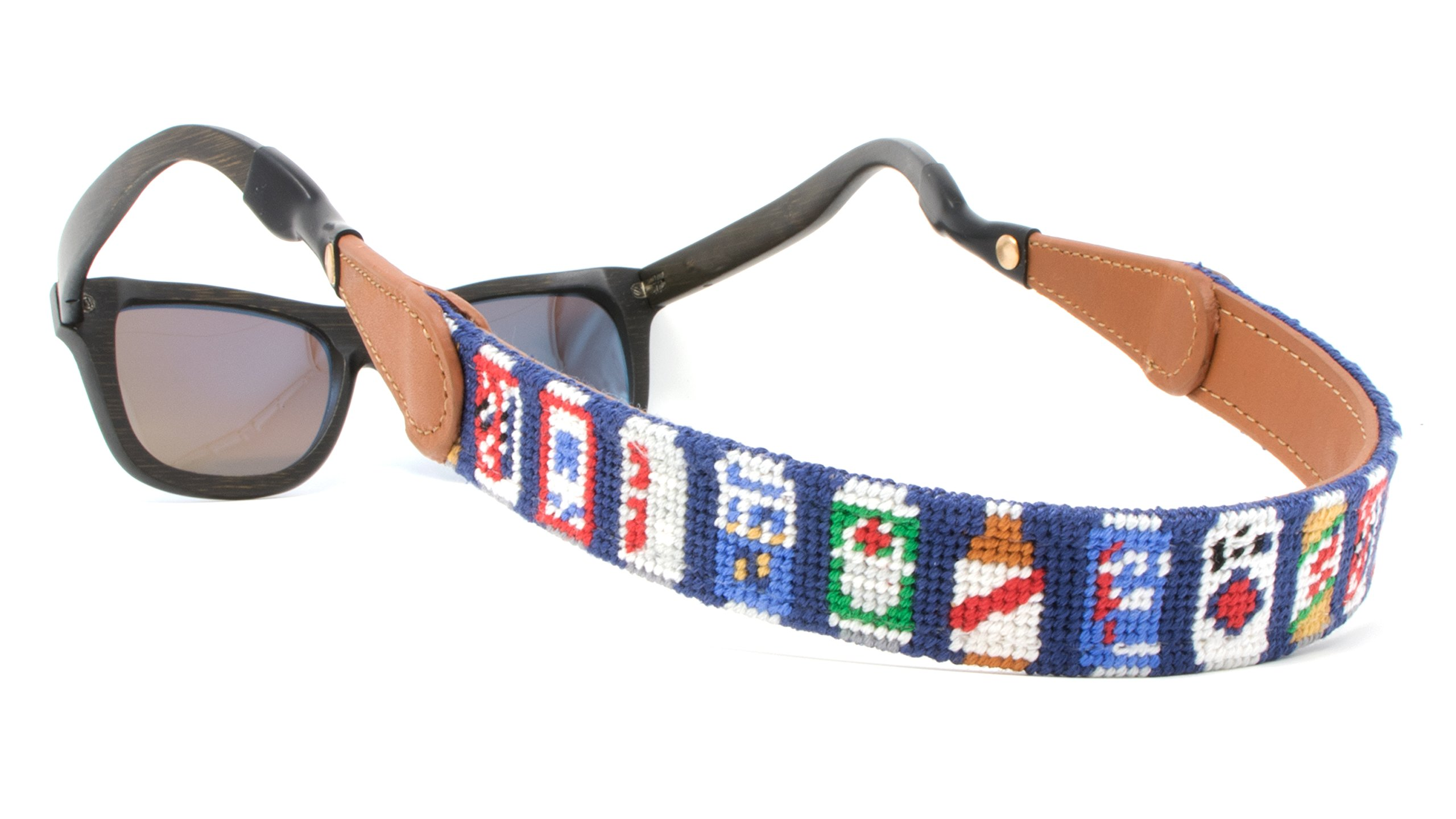 Needlepoint Sunglass Strap Sunglass Retainer by Huck Venture (Beer Can) by Huck Venture