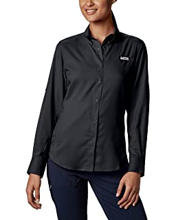9efc85b0918 Columbia Women's Long Sleeve Shirt, Harbor Blue, 2XL at Amazon ...