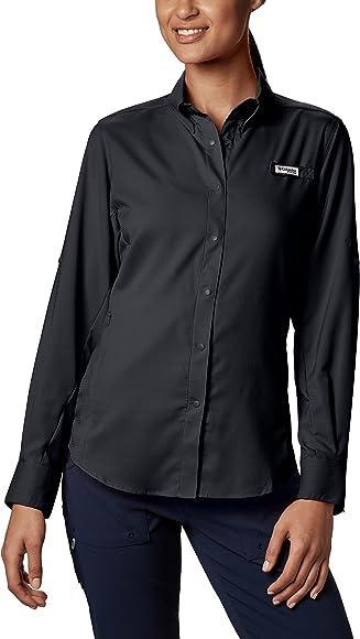 1d3349a2bb1 Columbia Women's PFG Tamiami II Long Sleeve Shirt , Black, X-Small