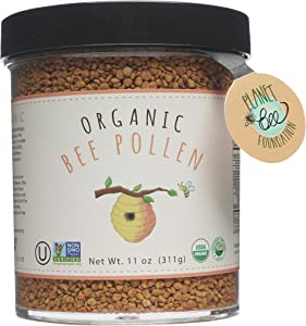 GREENBOW Organic Bee Pollen - 100% USDA Certified Organic, Pure, & Natural Bee Pollen - Superfood Packed with Proteins, Vitamins & Minerals - Non-GMO, Kosher Certified, Gluten Free - 311g