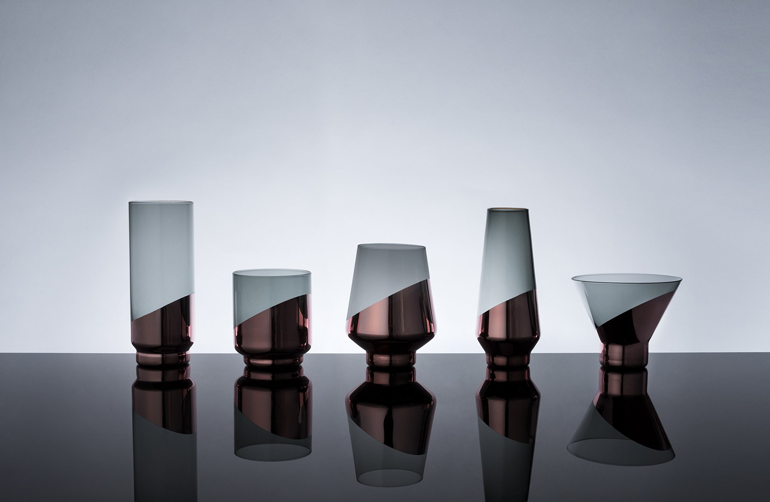 Viski 5310 Raye: Dipped Crystal Highball Glasses
