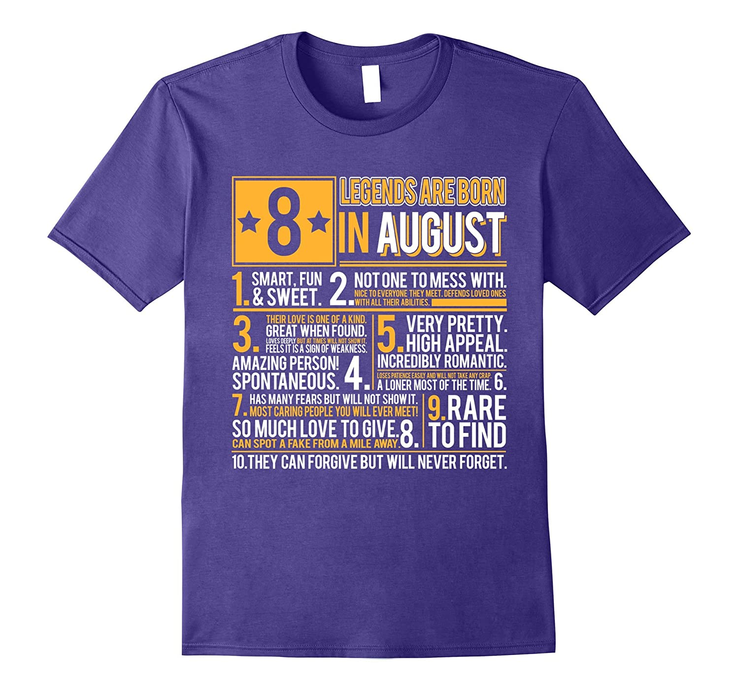 Legends are born in August T-Shirt Leo Pride-BN