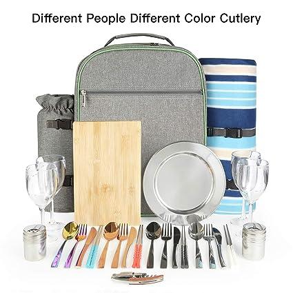 Amazon.com: ONFAON - Mochila de picnic con manta de forro ...