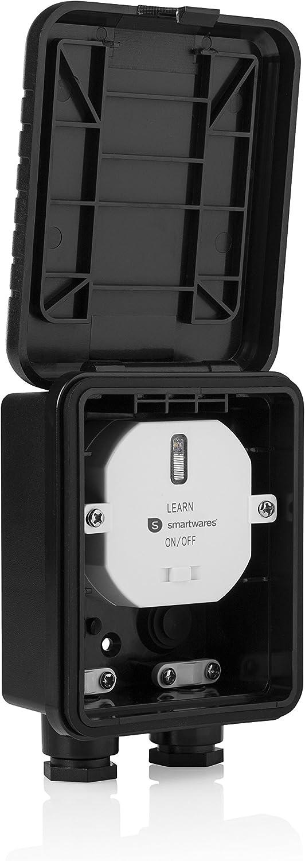 Smartwares Kit Ext/érieur domotique sans Fil Interrupteur mural et R/écepteur Radio