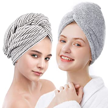 Women Fast Drying Magic Towel SPA Bath Shower Wrap Hat Quick Dry Hair Cap Turban