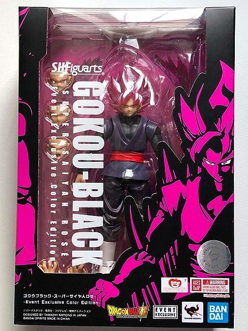 Tamashii Nations SDCC 2019 Exclusive SH Figuarts Dragonball Goku Black Super Saiyan Rose DBZ