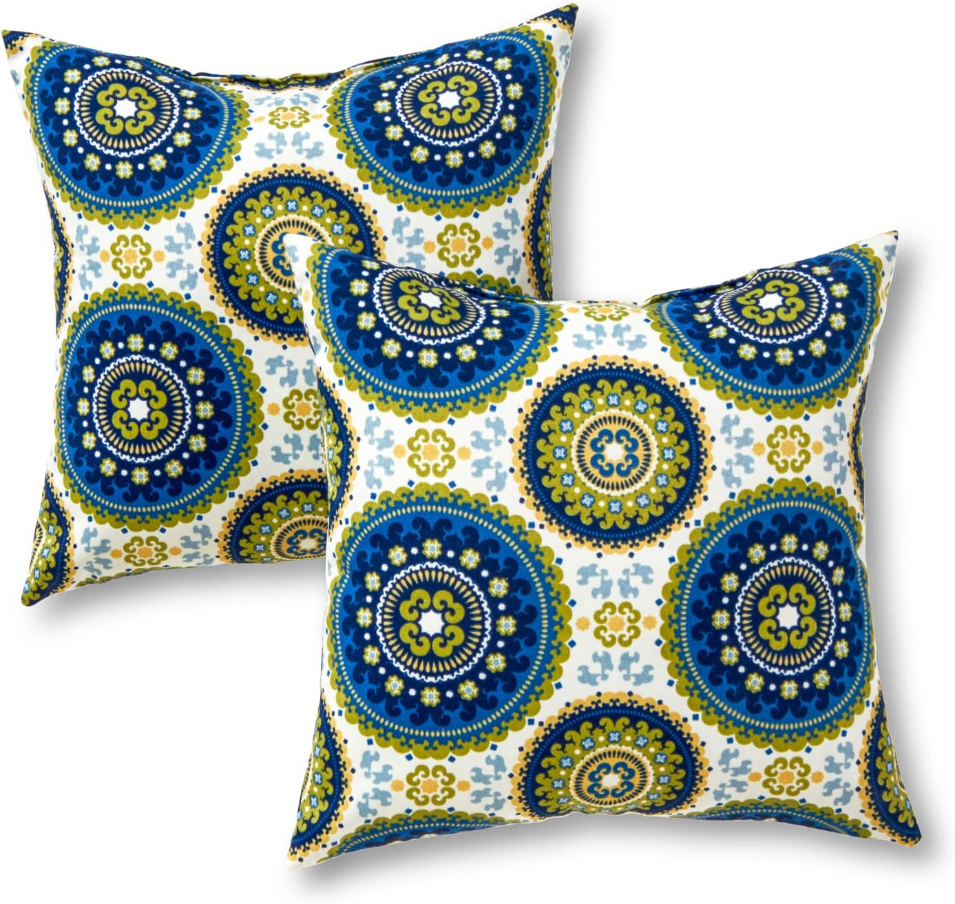 Amazon Com Greendale Home Fashions Outdoor Accent Pillows Summer Set Of 2 Garden Outdoor