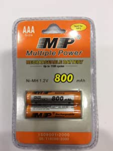 rechargeable battery mp 800mah