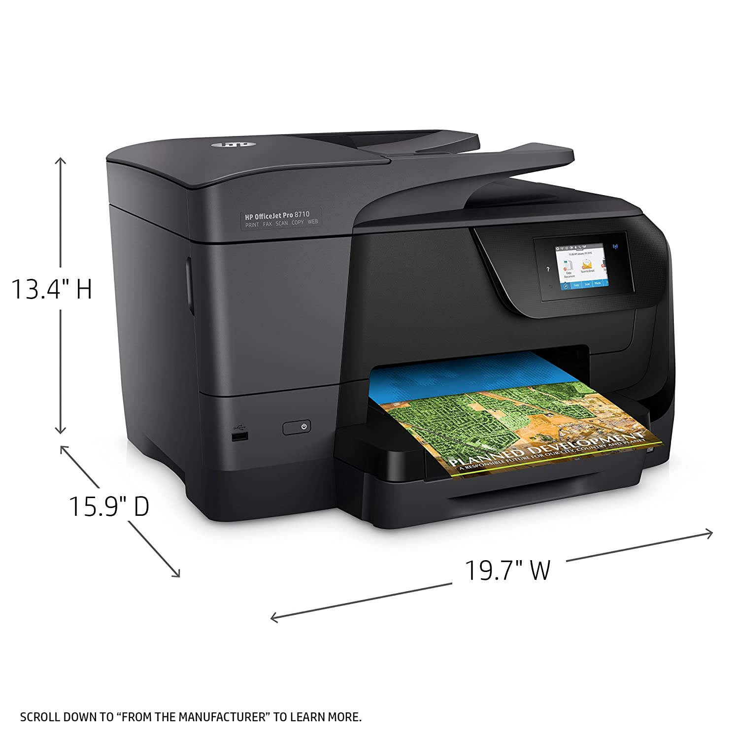 Color printing inkjet vs laser - Amazon Com Hp Officejet Pro 8710 Wireless All In One Photo Printer With Mobile Printing Instant Ink Ready M9l66a Electronics